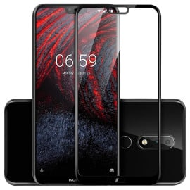 Dr. Vaku ® Nokia 7.1 5D Curved Edge Ultra-Strong Ultra-Clear Full Screen Tempered Glass-Black