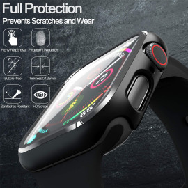 Dr. Vaku ® Apple Watch Series 1/2/3 42mm 360° Bumper Cover with Tempered Glass 【Watch Not Included】