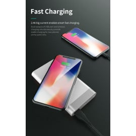 Rock ® Wire-less charging ABS Body 10,000 mAh USB Output with FOD Function - White