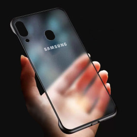 VAKU ® Samsung Galaxy A20 Frameless Semi Transparent Cover