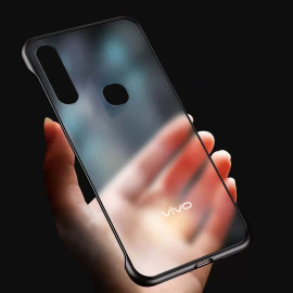 Vaku ® Vivo Z1 Pro Frameless Semi Transparent Cover