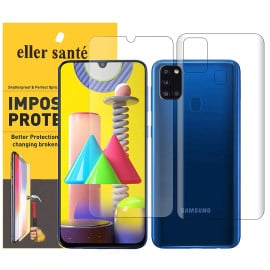 Eller Sante ® Samsung Galaxy M30S Impossible Hammer Flexible Film Screen Protector (Front+Back)