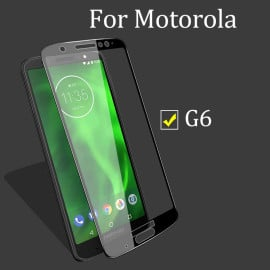 Dr. Vaku ® Motorola Moto G6 5D Curved Edge Ultra-Strong Ultra-Clear Full Screen Tempered Glass Black