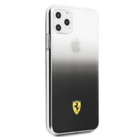 Ferrari ® Apple iPhone 11 Pro Transparent Black  Gradient Ferrari Logo Back cover