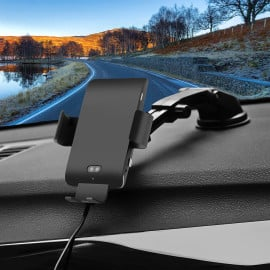 Vaku ® Voice-Controlled Auto-Opening Qi Fast-Charging Wireless Car Charger