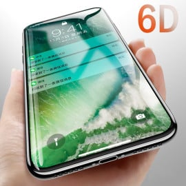 Dr. Vaku ® Oppo Realme 3 Pro 6D Curved Edge Ultra-Strong Ultra-Clear Full Screen Tempered Glass Black