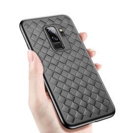 Vaku ® Samsung Galaxy S9 Plus WeaveNet Series Cross-Knitt Heat-Dissipation Edition Ultra-Thin TPU Back Cover