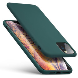 Luxos ® For Apple iPhone 11 Pro Max Liquid Silicon Velvet-Touch Silk Finish Shock-Proof Back Cover