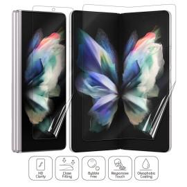 VAKU ® Samsung Galaxy Z Fold 3 Clear Screen Protector, Full Coverage HD Clear Soft Film Anti-Scratch Bubble Free - Transparent