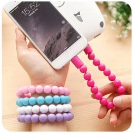 PMMA ® Amaozus Beads Bracelet Android/Windows Micro USB Charging / Data Cable