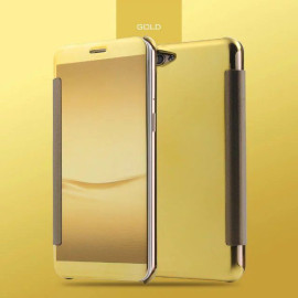 Vaku ® OPPO F1S Mate Smart Awakening Mirror Folio Metal Electroplated PC Flip Cover