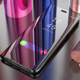 Vaku ® Apple iPhone 7 Plus Mate Smart Awakening Mirror Folio Metal Electroplated PC Flip Cover