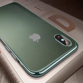 Vaku ® Apple iPhone X / XS Matte Chromaina Wireless Edition Soft Chrome 4 Frames Plus Ultra-Thin Back Cover