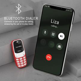 VAKU ® World's smallest Dual-Sim Nano Phone with Voice Changer, Alarm, Bluetooth etc.