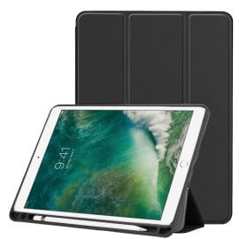 Vaku ® For Apple iPad 10.5 / iPad Air 3 Aniline Texture Series 360 Degree shock-proof Water-resistant Magnetic Stand Flip Cover with Pencil Holder