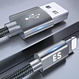 Vaku ® For Apple Lightning Nylon Braided USB Data-Charging Cable - (Pack of 10)