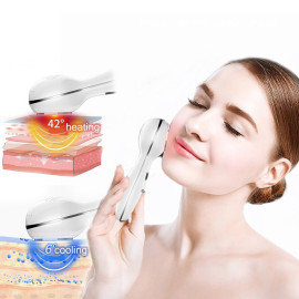 Eller Sante ® Face & Skin Massager with Ultrasonic Hot & Cold Technology + Light Therapy for Glowing Skin