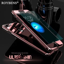 Joyroom ® Apple iPhone SE 2020 5D ETOLICA Electroplating Front Case + Tempered Glass + Back Cover