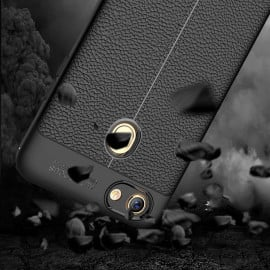 Vaku ® Oppo F7 Kowloon Leather Stitched Edition Top Quality Soft Silicone 4 Frames + Ultra-Thin Back Cover