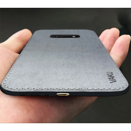 Vaku ® Samsung Galaxy S10E Luxico Series Hand-Stitched Cotton Textile Ultra Soft-Feel Shock-proof Water-proof Back Cover