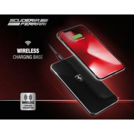 Scuderia Ferrari ® Ferrari Logo Wireless Fast Charging Glossy Pad with USB Cable