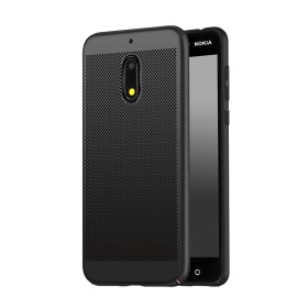 Vaku ® Nokia 5 Perforated Series Heat Dissipation Ultra-Thin PC Back Cover Black