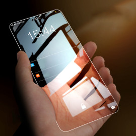 Dr. Vaku ® Samsung Galaxy A20 5D Curved Edge Ultra-Strong Ultra-Clear Full Screen Tempered Glass
