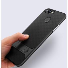 Vaku ® Oppo F9 / F9 Pro Royle Case Ultra-thin Dual Metal Soft + inbuilt stand soft/ Silicon Case