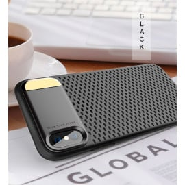Joyroom ® Apple iPhone XS Perforated Heat Dissipation Series with inbuilt Aluminium Metal Stand Thin Case Back Cover