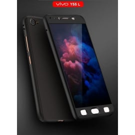 Vaku ® Vivo Y55 L 360 Full Protection Metallic Finish 3-in-1 Ultra-thin Slim Front Case + Tempered + Back Cover