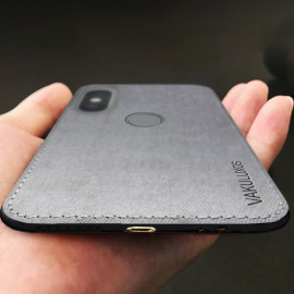 Vaku ® Xiaomi Redmi 6 Pro Luxico Series Hand-Stitched Cotton Textile Ultra Soft-Feel Shock-proof Water-proof Back Cover