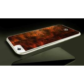 Mercedes Benz ® Apple iPhone 6 / 6S Vintage Natural Wood Chrome Edition