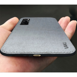 Vaku ® Vivo V20 SE Luxico Series Hand-Stitched Cotton Textile Ultra Soft-Feel Shock-proof Water-proof Back Cover