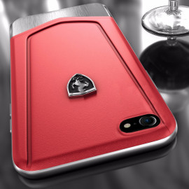Ferrari ® Apple iPhone 6 / 6s  Moranello Series Luxurious Leather + Metal Case Limited Edition Back Cover