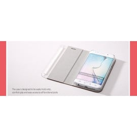 Zenus ® Samsung Galaxy S6 Edge Buffalo Diary Synthetic Leather with Hidden Card Slot Flip Cover